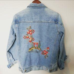 Jackets & Blazers - Embroidered Denim Jacket